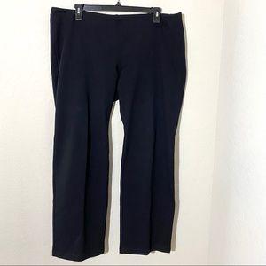 Eileen Fisher Pull On Wide Leg Pants Black Sz XL